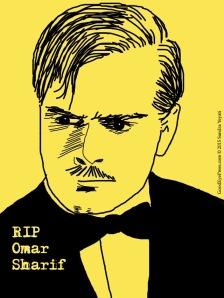 RIP Omar Sharif copyright 2015 Sandra Yeyati