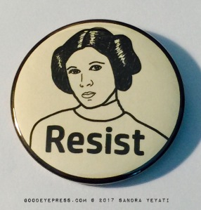 Princess Leia Resist Political Protest Button